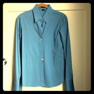 Theory women's blue button-down - Like new!